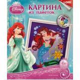 LORIКартинаИзПайеток Волшебный блеск. Disney Принцесса. Русалочка (комплект материалов для изготовления) (в коробке) (от 4 лет) Апд001, (ООО