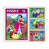 Пазлы 12 дет. Сказки для принцесс П12-1264, (Рыжий кот)