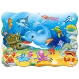 ПазлыМиди 30 дет. Подводные друзья (контурные) В-03501, (Castor Drukarnia i Wydawnictwo)