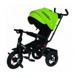 Велосипед-коляскаLAMBORGHINI L4G (3-х колесный,ручка управления,надувные колеса d=10 и 12 дюймов,поворотное сиденье,регулируемая спинка) (зеленый), (SHENZHEN GBC GLORY BUSINESS CORPORATION LTD)