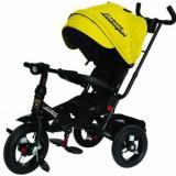 Велосипед-коляскаLAMBORGHINI L4Y (3-х колесный,ручка управления,надувные колеса d=10 и 12 дюймов,поворотное сиденье,регулируемая спинка) (желтый), (SHENZHEN GBC GLORY BUSINESS CORPORATION LTD)