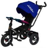 Велосипед-коляскаLAMBORGHINI L4B (3-х колесный,ручка управления,надувные колеса d=10 и 12 дюймов,поворотное сиденье,регулируемая спинка) (синий), (SHENZHEN GBC GLORY BUSINESS CORPORATION LTD)