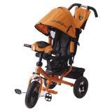 Велосипед-коляскаLAMBORGHINI L2NO (3-х колесный,ручка управления,надувные колеса d=12 и 10 дюймов,регулируемая спинка,свет,звук) (оранжевый), (SHENZHEN GBC GLORY BUSINESS CORPORATION LTD)