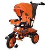 Велосипед-коляскаLAMBORGHINI L3O (3-х колесный,ручка управления,надувные колеса d=10 и 12 дюймов,регулируемая спинка,свет,звук,LCD дисплей) (оранжевый), (SHENZHEN GBC GLORY BUSINESS CORPORATION LTD)