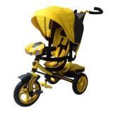 Велосипед-коляскаLAMBORGHINI L3Y (3-х колесный,ручка управления,надувные колеса d=10 и 12 дюймов,регулируемая спинка,свет,звук,LCD дисплей) (желтый), (SHENZHEN GBC GLORY BUSINESS CORPORATION LTD)