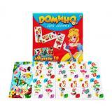 НастИгра Домино. Для девочек (+пазлы 18 дет.) (в коробке) (от 3 лет) ИН-6754, (Рыжий кот)