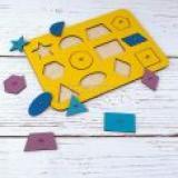 WoodLandToys Игрушка Монтессори. Геометрия (12 деталей, рамка-вкладыш, в ассортименте) (дерево) (от 3 лет) 082102, (ООО