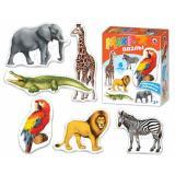 ПазлыМакси набор 2 дет., 3 дет., 4 дет., 5 дет., 6 дет. Африканские животные 02540, (ООО