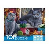 ПазлыTOPpuzzle 500 дет. Два британских кота ХТП500-4214, (Рыжий кот)