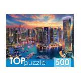 ПазлыTOPpuzzle 500 дет. Вечерний Дубай ХТП500-4227, (Рыжий кот)