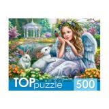 ПазлыTOPpuzzle 500 дет. Ангелочек и кролики ХТП500-4238, (Рыжий кот)