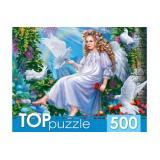 ПазлыTOPpuzzle 500 дет. Ангелок в саду ХТП500-4239, (Рыжий кот)