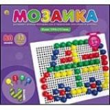 МозаикаПластиковая 80 фишек М-0103 (d=13мм, 4 цв., поле 194х153 мм) (для детей 3-9 лет), (Рыжий кот)