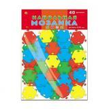 МозаикаНапольная-мини 40 дет. (d=38мм, 4 цвета) (пластик) (в пакете) (от 3 лет) М-0523, (Рыжий кот)