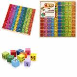 MAPACHA Развивающая игра. Таблица умножения (игровое поле, 100 деталей) (от 3 лет) 76719, (NINGDO NINSHING TRADING GROUP INC)