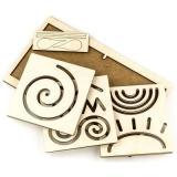 WoodLandToys Межполушарная доска. Круг (рамка-вкладыш, 6 досок с трафаретами, 2 пары стилосов) (дерево) (от 3 лет) 134101, (ООО