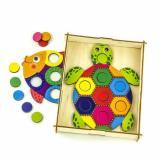 WoodLandToys Мозаика Рыба и черепаха (рамка-планшет, набор фигурок) (дерево) (от 3 лет) 067301, (ООО