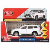 МодельИнерционнаяТехнопарк Lexus LX-570 (12см, металл, открываются двери и багажник, белая) (в коробке) LX570-WH, (Shantou City Daxiang Plastic Toy Products Co., Ltd)