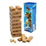 ЛогическаяИгра Башня. Высотка (25см) (дерево) (в коробке) (от 6 лет) ИД-0373, (Рыжий кот)