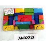 ДеревяннаяИгрушка Конструктор №4 (от 3 лет) AN02218, (Рыжий кот)