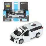 Модель Инерционная Автопанорама 1:43 Toyota Alphard (металл, открываются двери, белый) (в коробке) (от 3 лет) ОП-00011127/JB1251029, (Chengzhen International Limited)