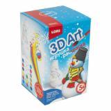 LORI 3DArt Игрушка-раскраска Забавный снеговик (комплект материалов для изготовления) (в коробке) (от 5 лет) Ир019, (ООО