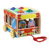 WoodLandToys Сортер-стучалка Автобус. Цирк (5 фигурок, 6 шариков, молоток) (дерево) (в коробке) (от 3 лет) 152107, (ООО