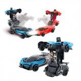 МашинаИнерционнаяПламенныйМотор Робот-трансформер (пластик) (в коробке) (от 3 лет) 870542, (Shantou City Chenghai District Huada Toys Co., Ltd)