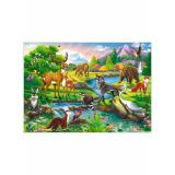 Пазлы 160 дет. Лесные зверушки ПУ160-2960, (Рыжий кот)