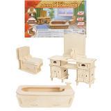 СборнаяМодель Мебель. Ванная комната (2 листа) (дерево) (от 6 лет) СМ-1020-А4, (Рыжий кот)