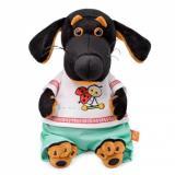 Мягкая Игрушка BudiBasa Пес Ваксон BABY в футболке с божьей коровкой (19см) VB-023, (ООО