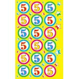 011125 Наклейки-оценки (Пятерки), (МирОткр)