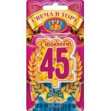 5241158 Свеча в торт цифра 45